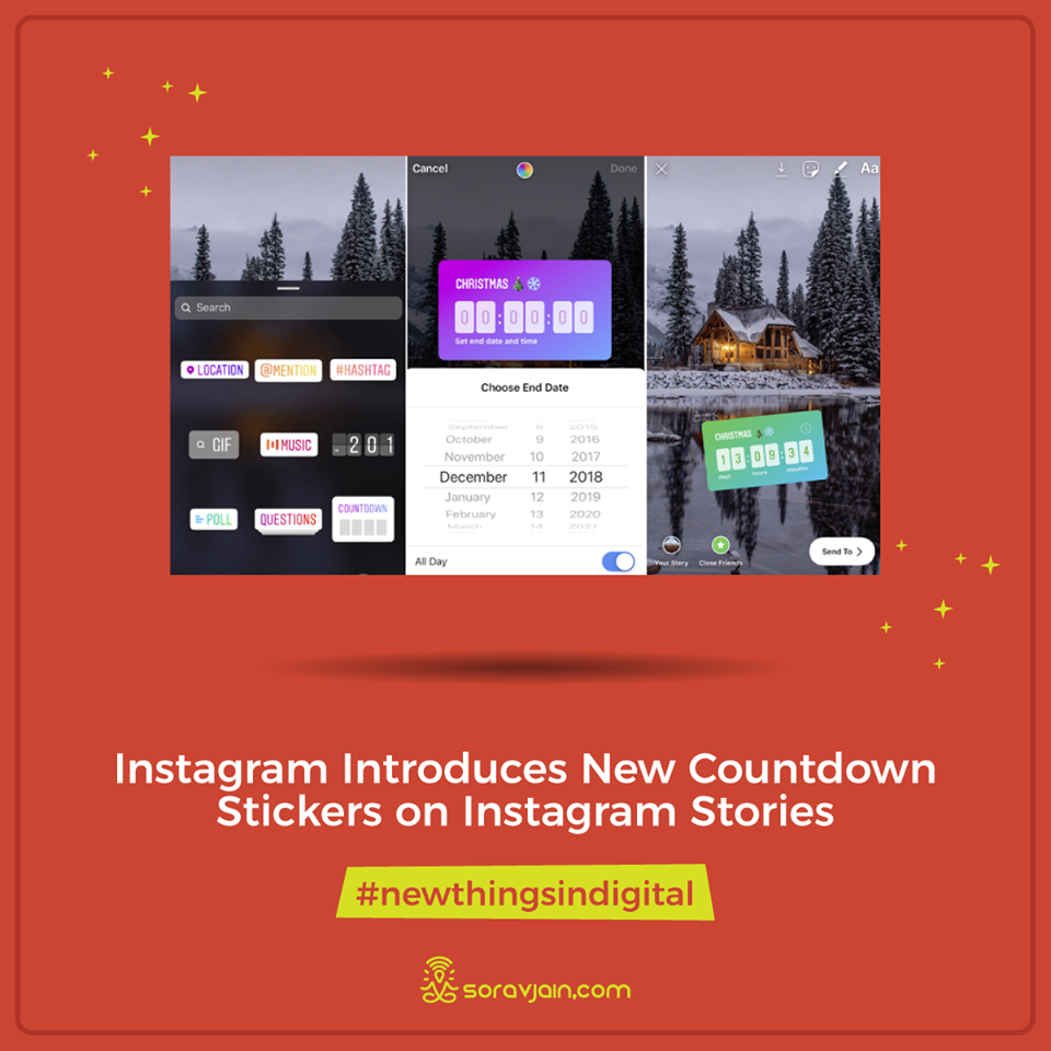 Instagram Introduces New Countdown Stickers on Instagram Stories