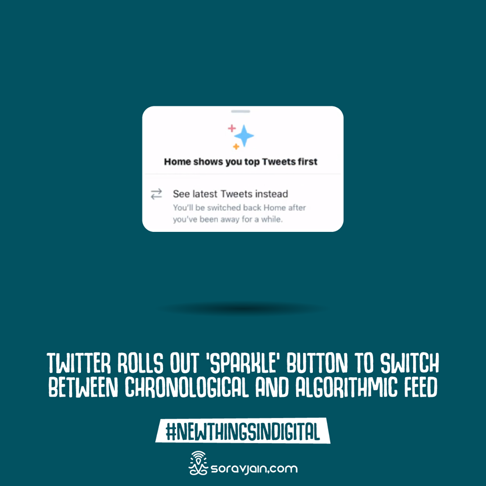 Twitter Rolls Out 'Sparkle' Button To Switch Between Chronological And Algorithmic Feed