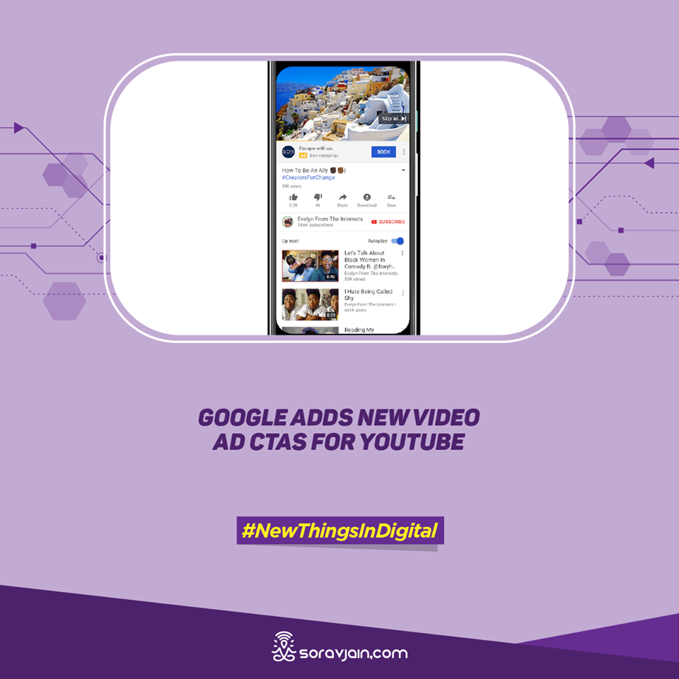 Google Adds New Video Ad CTAs for YouTube