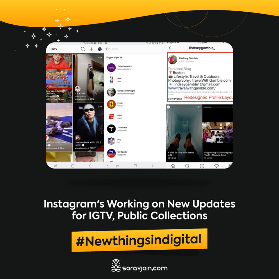Instagram is Working on New Updates for IGTV, Public Collections