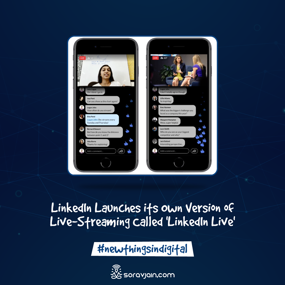 LinkedIn Launches its Own Version of Live-Streaming Called 'LinkedIn Live
