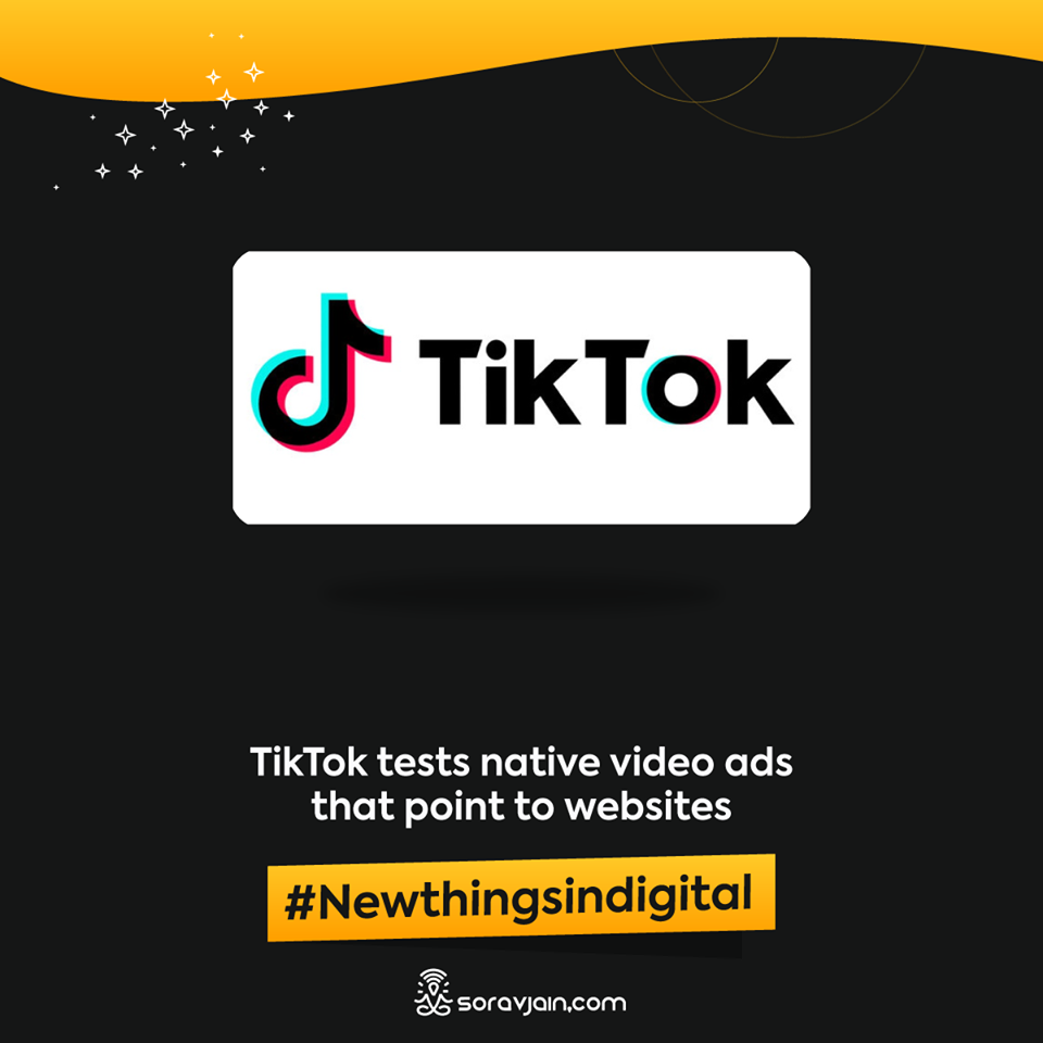TikTok tests native video ads that point to websites