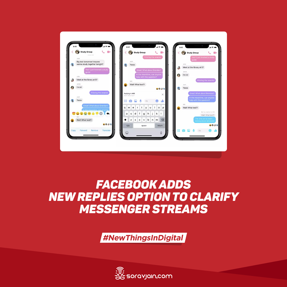 Facebook Adds New Replies Option to Clarify Messenger Streams
