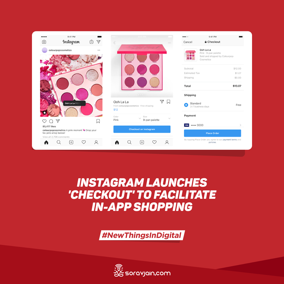 Instagram Launches 'Checkout' to Facilitate In-App Shopping