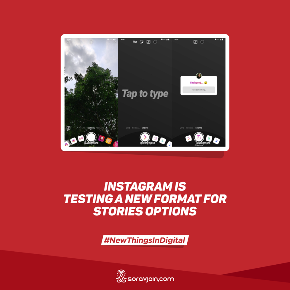 Instagram is Testing a New Format for Stories Options