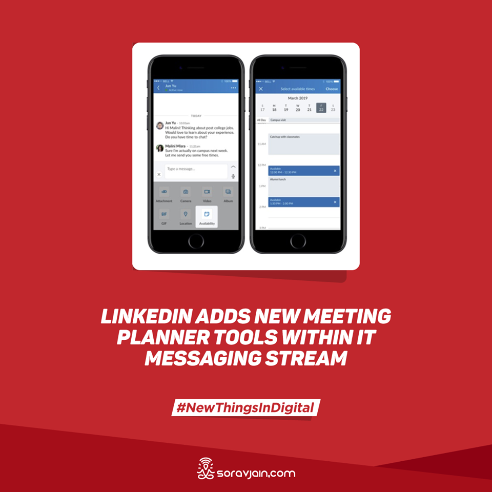 LinkedIn Adds New Meeting Planner Tools Within it Messaging Stream