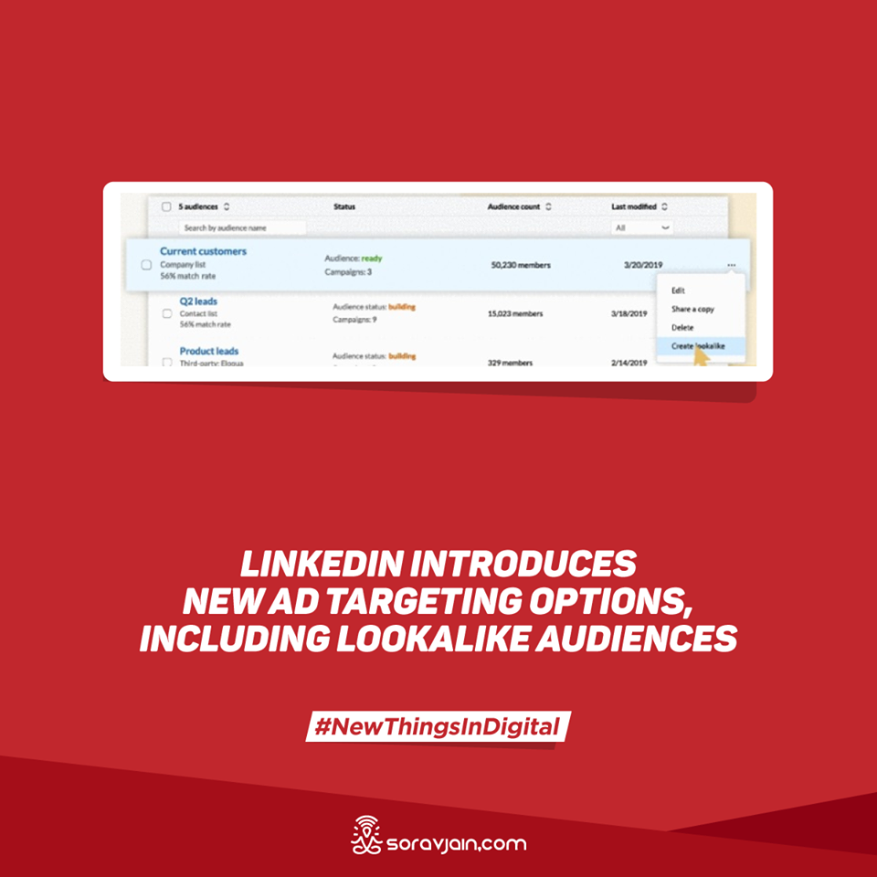 LinkedIn Introduces New Ad Targeting Options, Including Lookalike Audiences