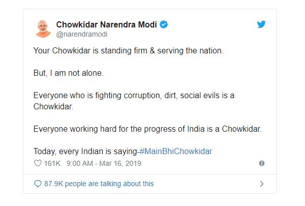 Modi Trending Hashtags