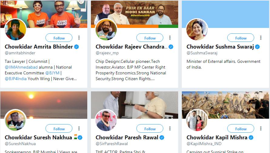 Chowkidar Trending in Twitter