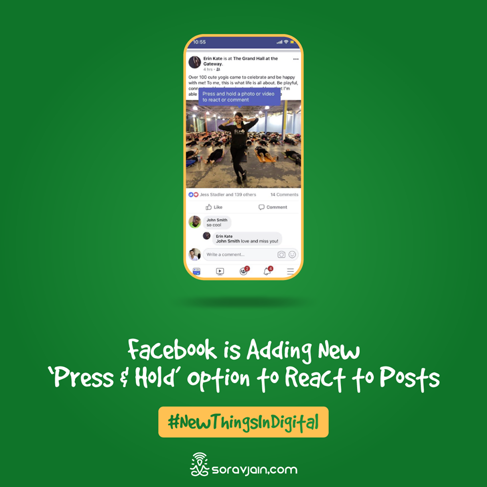 Facebook is Adding New 'Press & Hold' Option to React to Posts