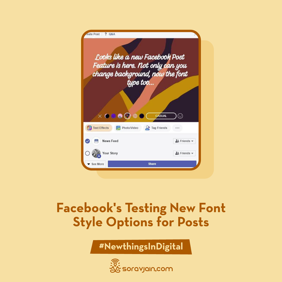 Facebook is Testing New Font Style Options for Posts