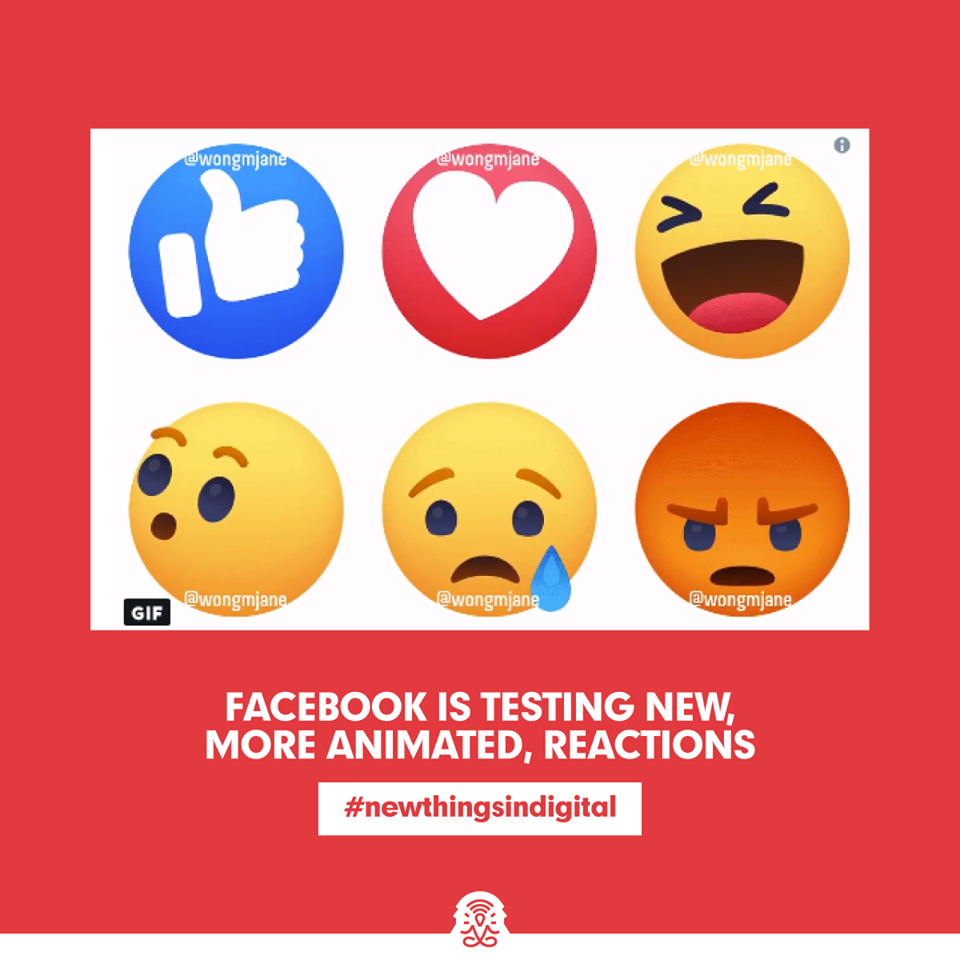 Facebook is Testing New, More Animated, Reactions