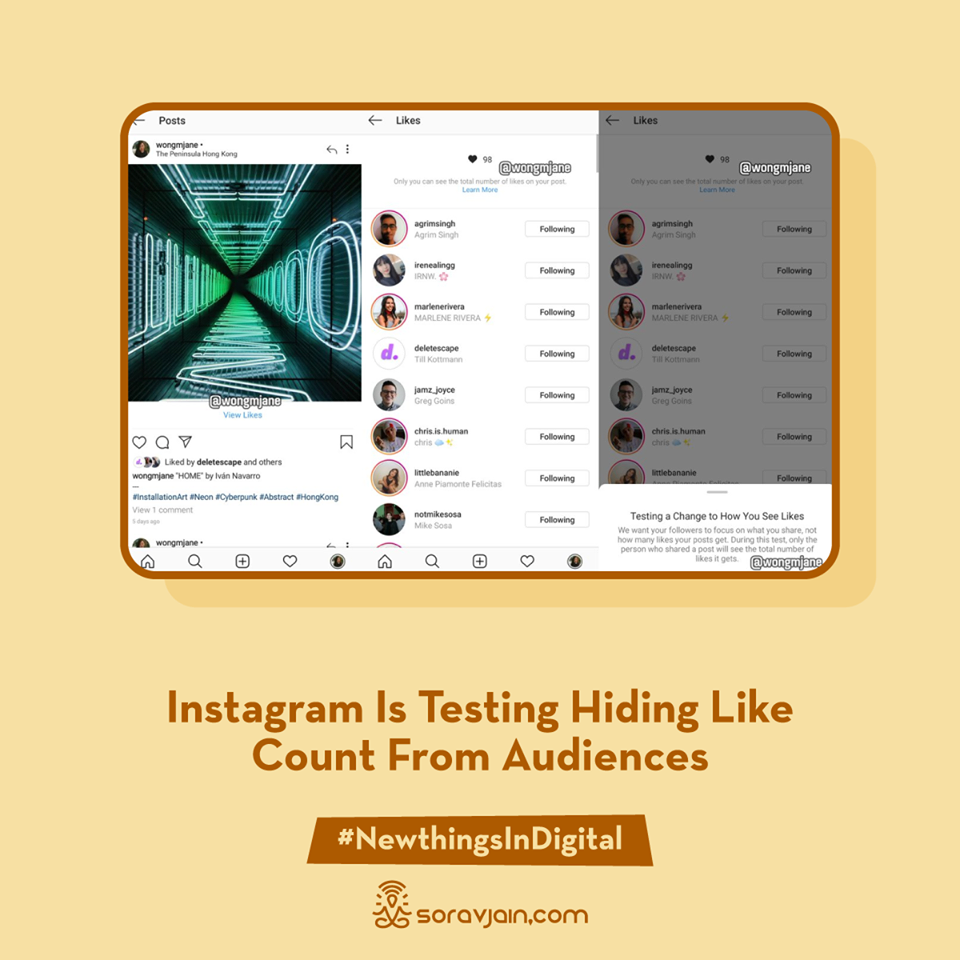 Instagram Is Testing Hiding Like Count From Audiences