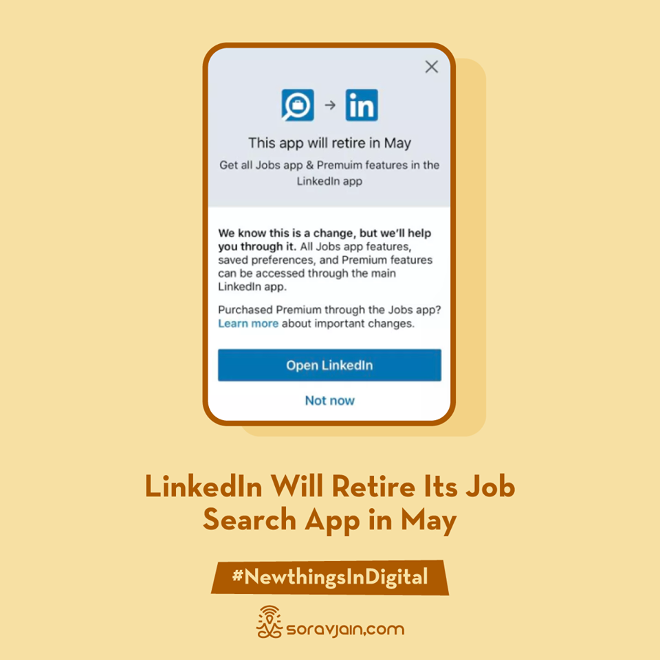 LinkedIn Will Retire Its Job Search App in May