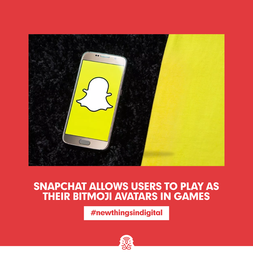 Snapchat Allows Users to Play as Their Bitmoji Avatars in Games