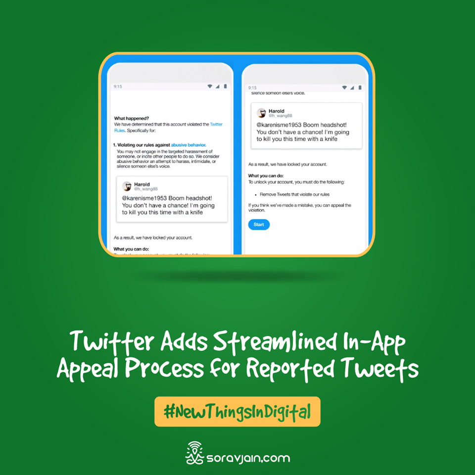 Twitter Adds Streamlined In-App Appeal Process for Reported Tweets