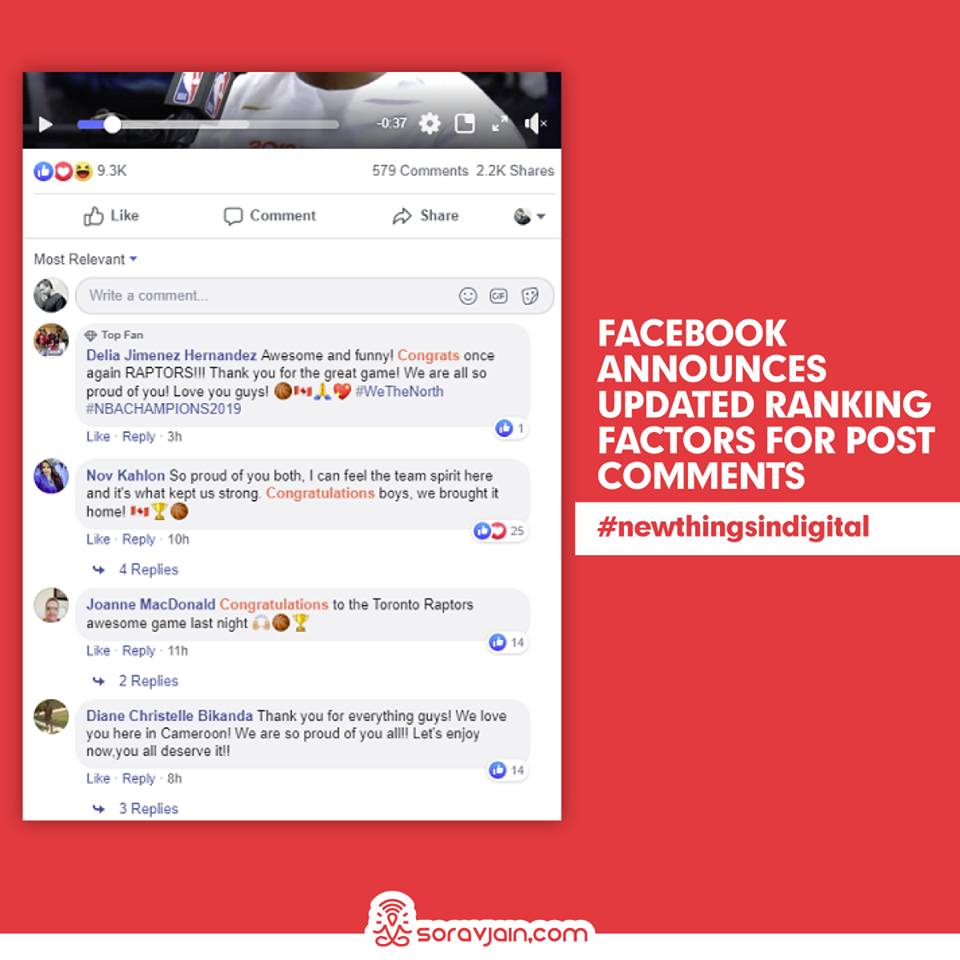 Facebook Announces Updated Ranking Factors for Post Comments