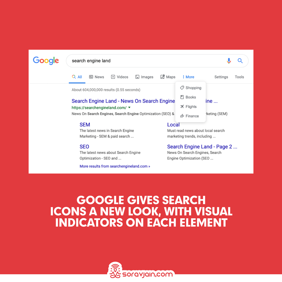 Google Gives Search Icons a New Look, with Visual Indicators on Each Element
