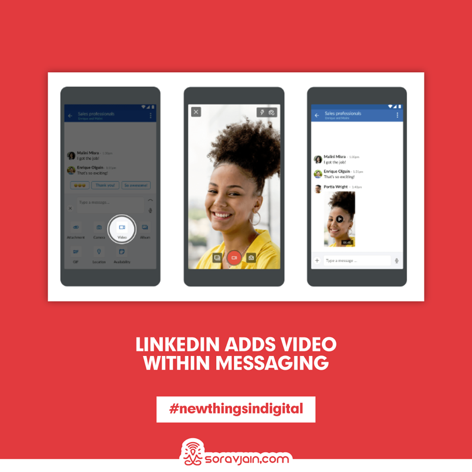 LinkedIn Adds Video Within Messaging