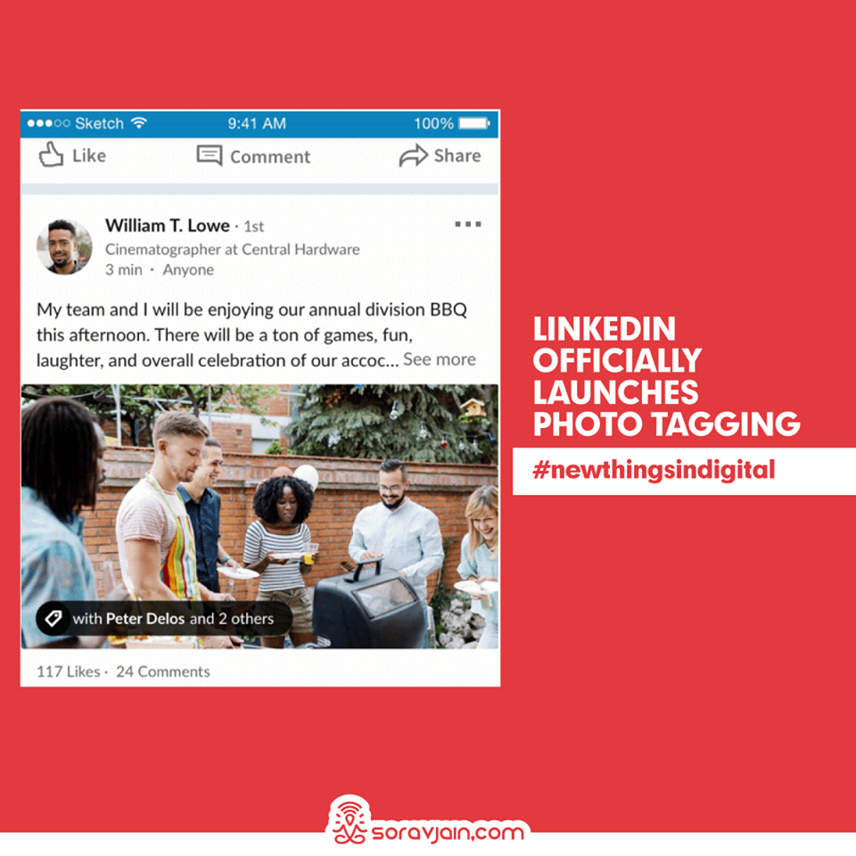 LinkedIn Officially Launches Photo Tagging