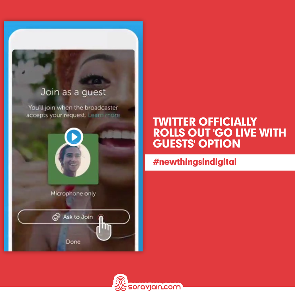 Twitter Officially Rolls Out 'Go Live with Guests' Option