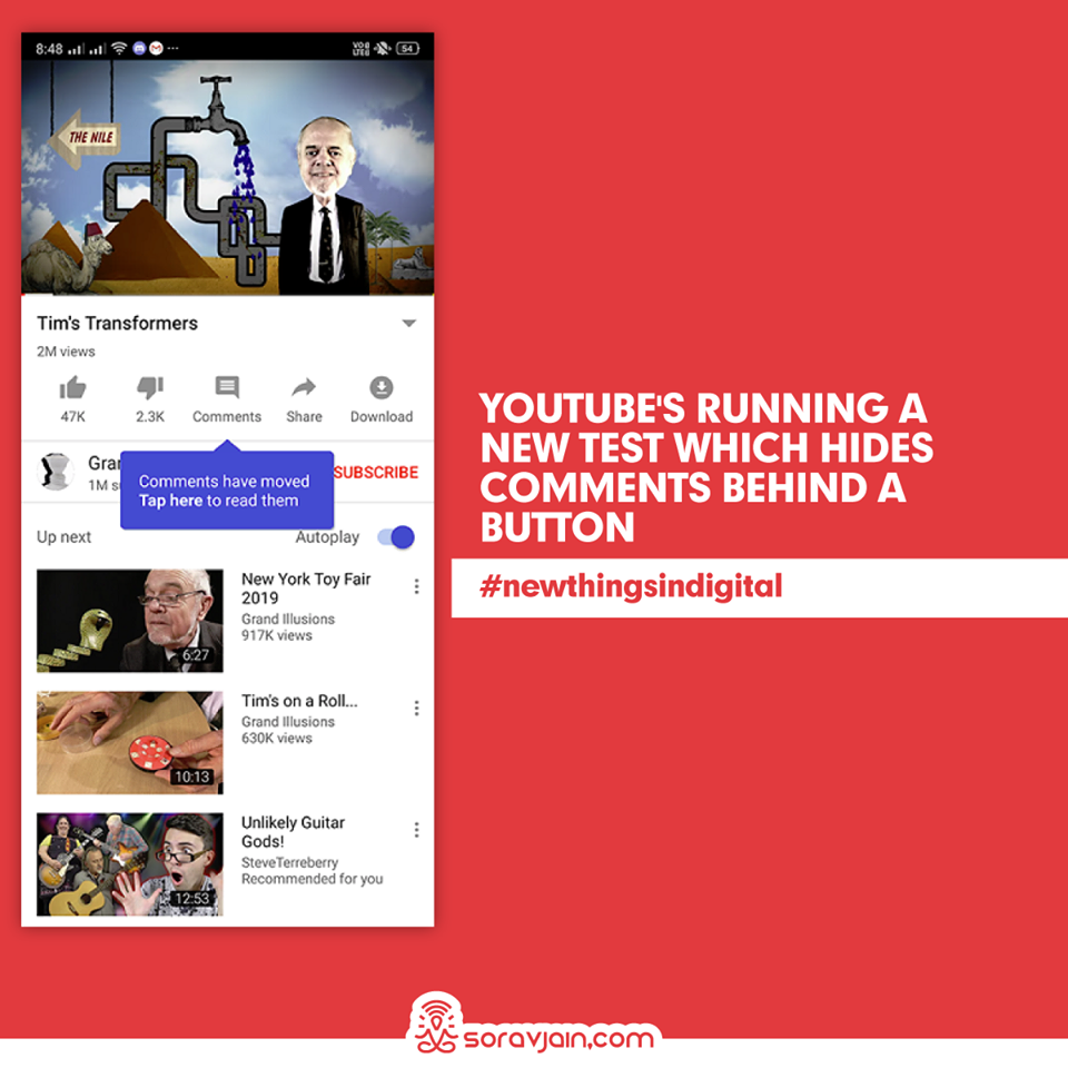 YouTube is Running a New Test Which Hides Comments Behind a Button