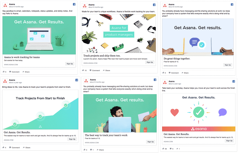 Facebook Ad Variants