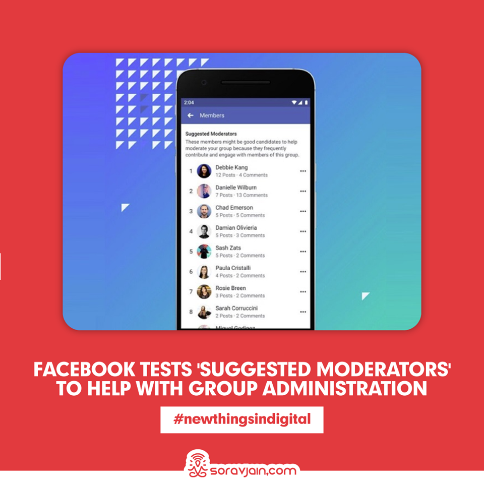 Facebook Tests 'Suggested Moderators' to Help with Group Administration