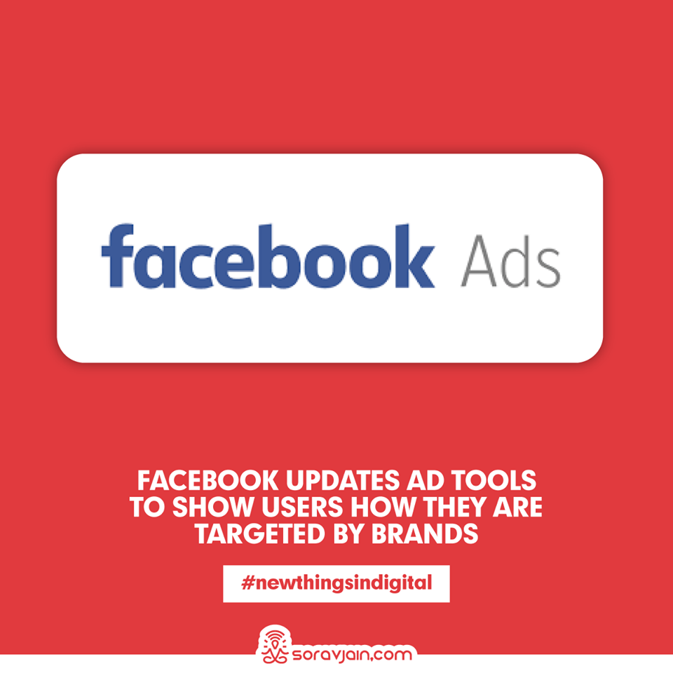 Facebook Updates Ad Tools To Show Users How They Are Targeted By Brands
