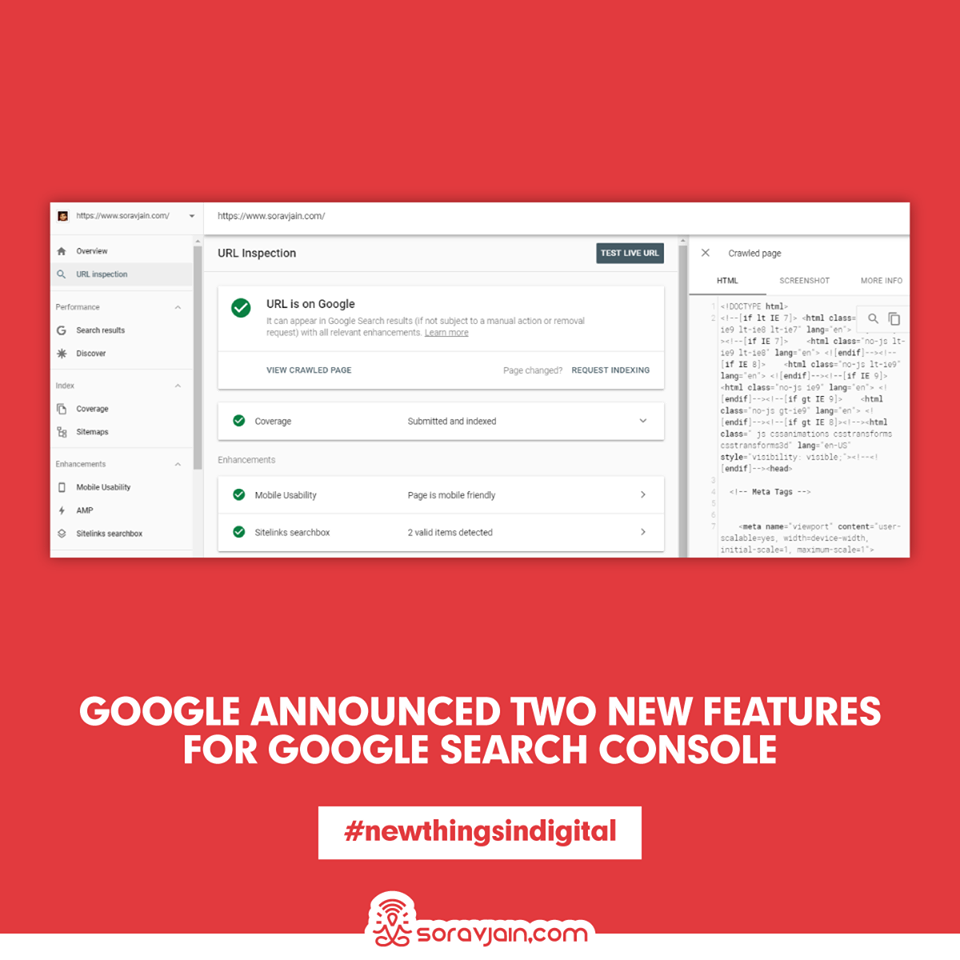 Google Announced Two New Features For Google Search Console