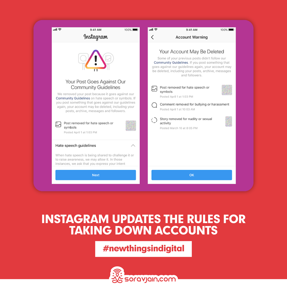 Instagram Updates The Rules For Taking Down Accounts