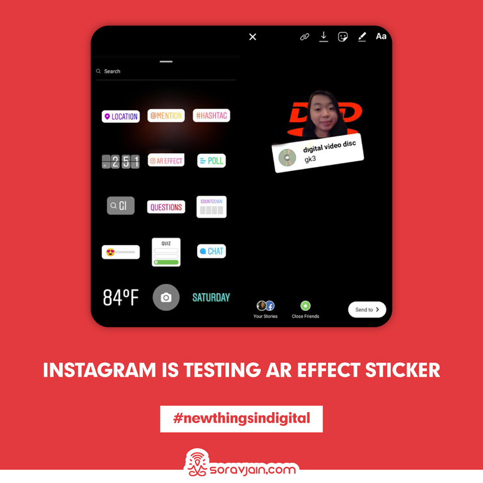 Instagram is Testing AR Effect Sticker