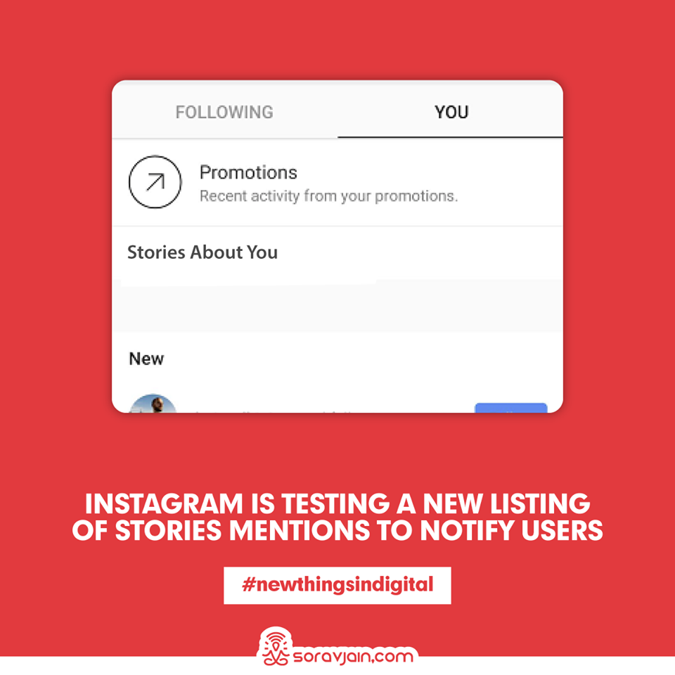 Instagram is Testing a New Listing of Stories Mentions to Notify Users