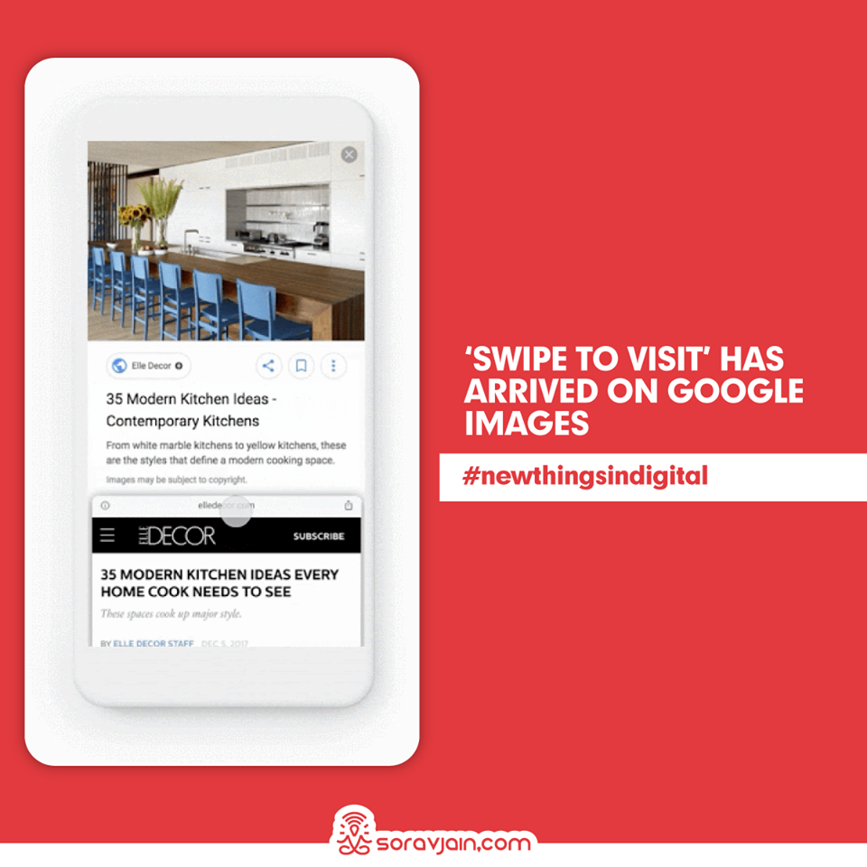 Swipe to Visit' has arrived on Google Images