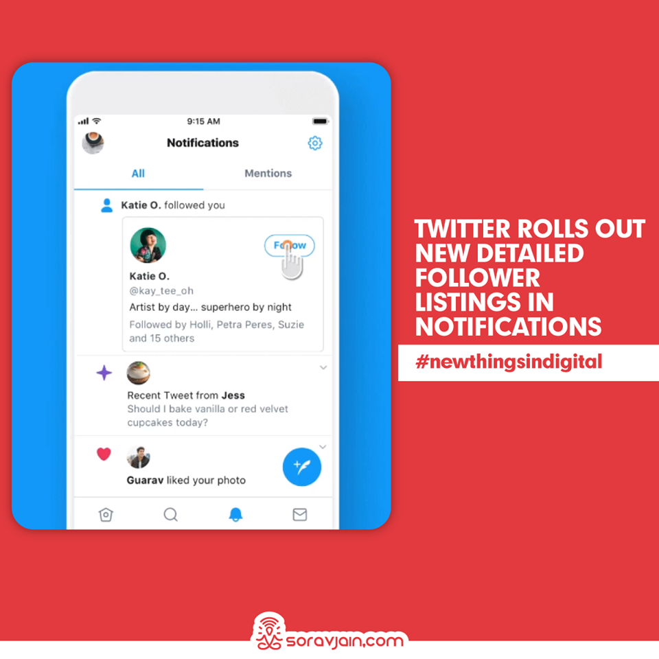 Twitter Rolls Out New Detailed Follower Listings in Notifications