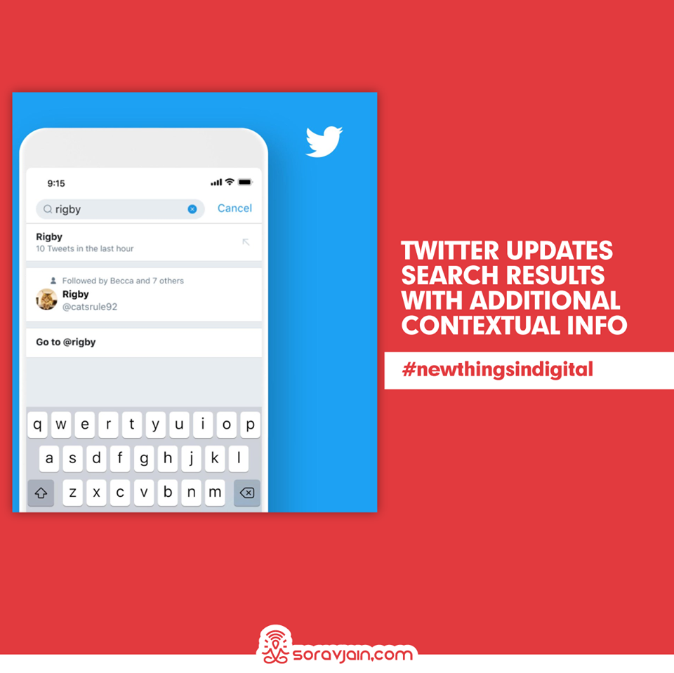 Twitter Updates Search Results with Additional Contextual Info