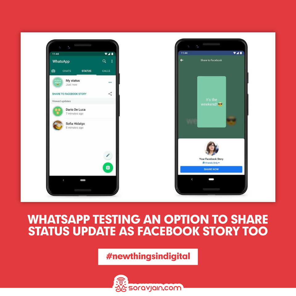 WhatsApp Testing An Option To Share Status Update as Facebook Story Too