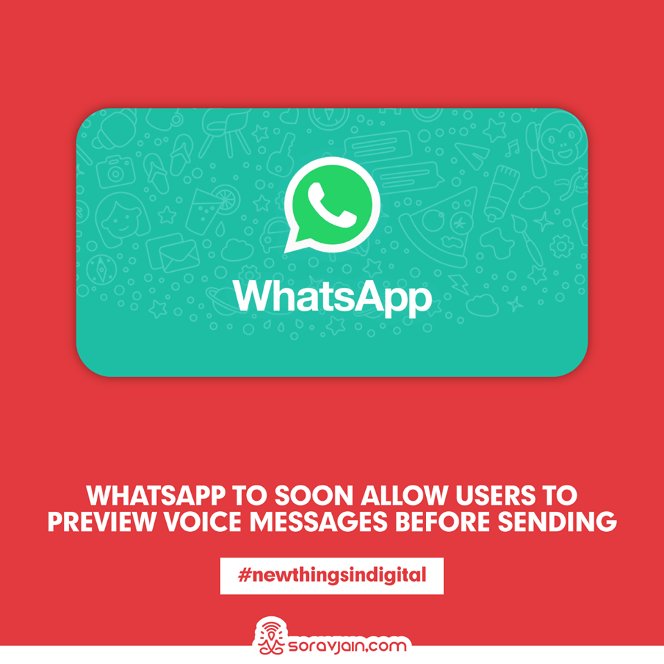 WhatsApp to soon allow users to preview voice messages before sending