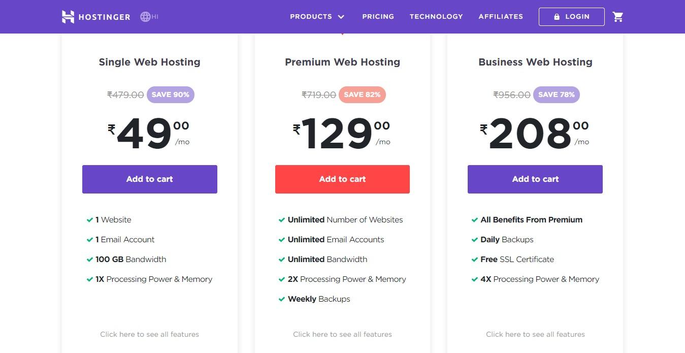 Best Web Hosting Services - Hostinger