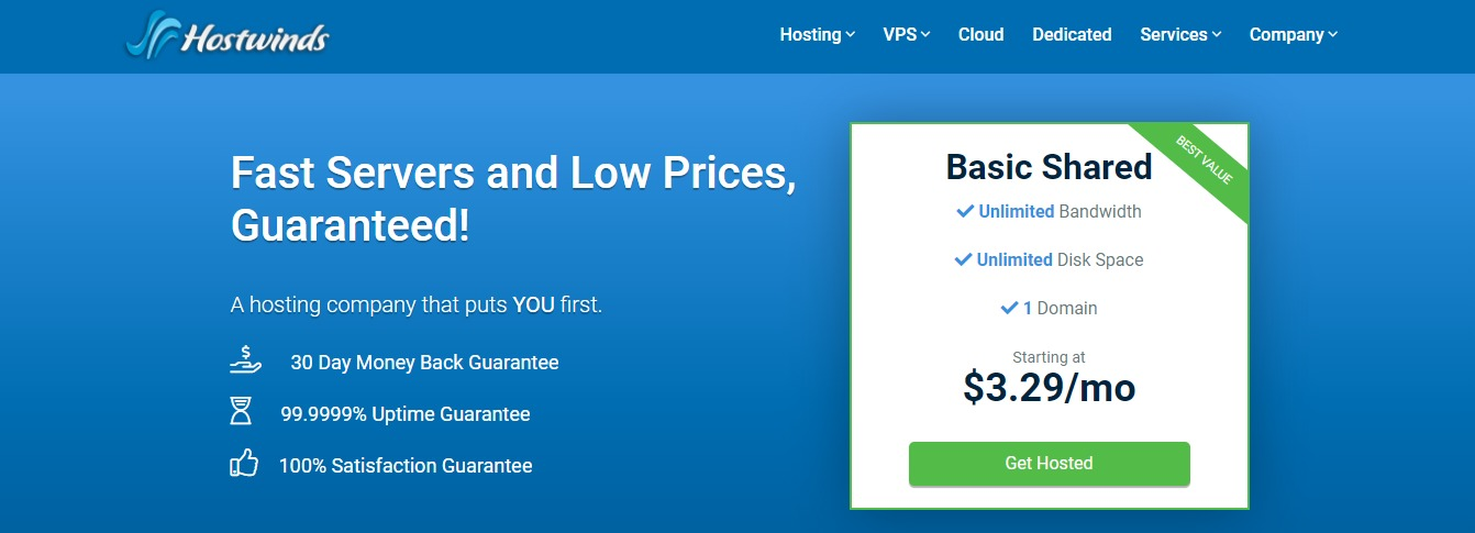 Best Web Hosting Services - Hostwinds