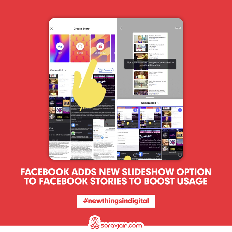 Facebook Adds New Slideshow Option to Facebook Stories to Boost Usage