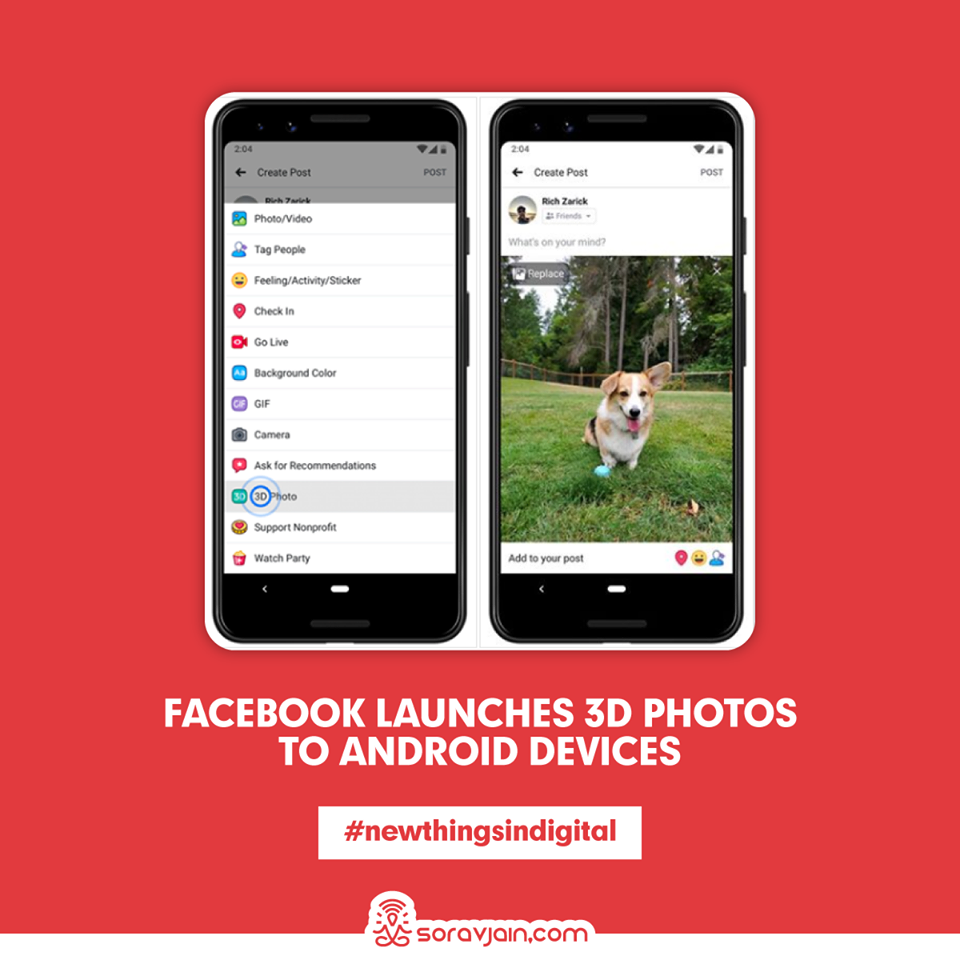 Facebook Launches 3D Photos to Android Devices