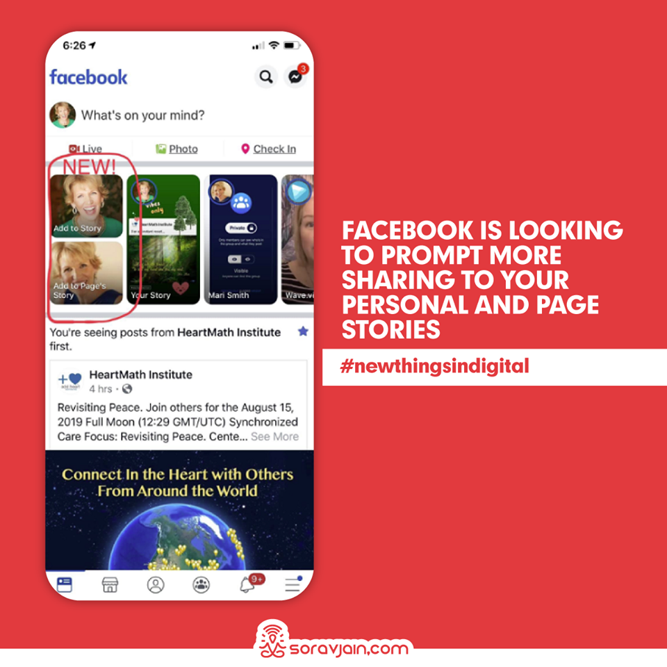 Facebook is Looking to Prompt More Sharing to Your Personal and Page Stories
