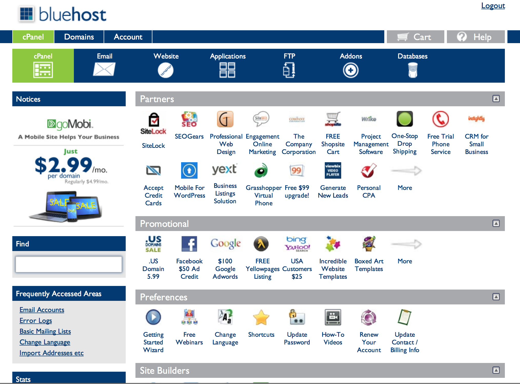 Bluehost review 2020 by Sorav Jain - Intuitive cPanel