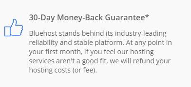 Bluehost hosting review by Sorav Jain - 30 days Money back Guarantee