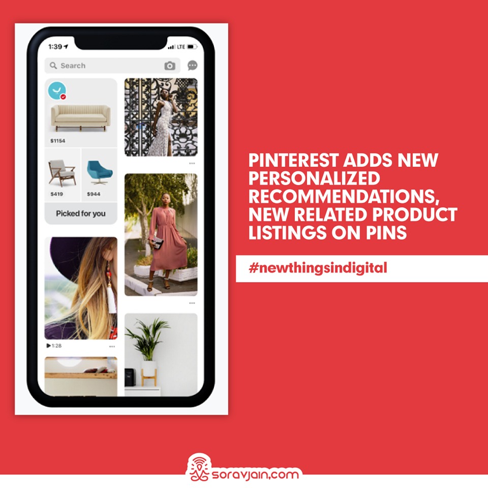 Pinterest Adds New Personalized Recommendations, New Related Product Listings on Pins