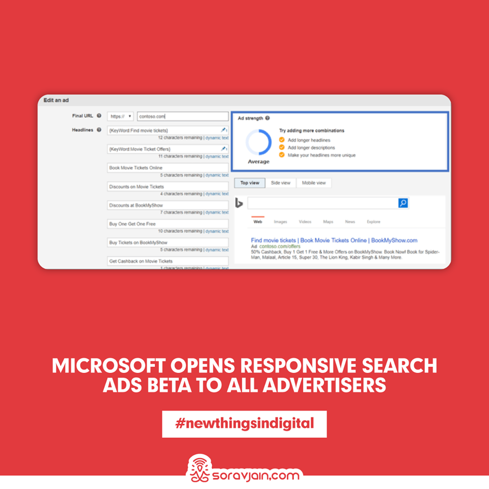 Microsoft opens Responsive Search Ads Beta To All Advertisers