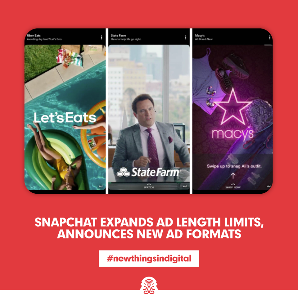 Snapchat Expands Ad Length Limits, Announces New Ad Formats
