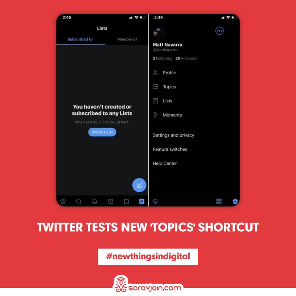 Twitter Tests New 'Topics' Shortcut