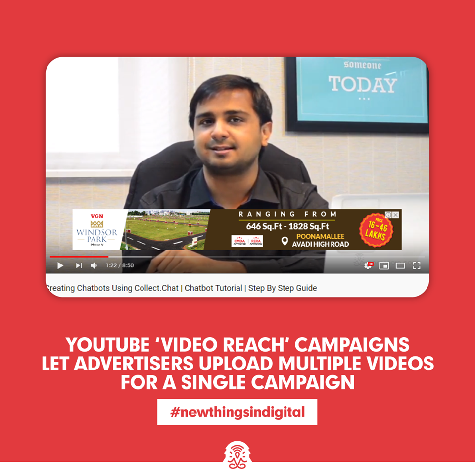 YouTube 'Video Reach' campaigns let advertisers upload multiple videos for a single campaign